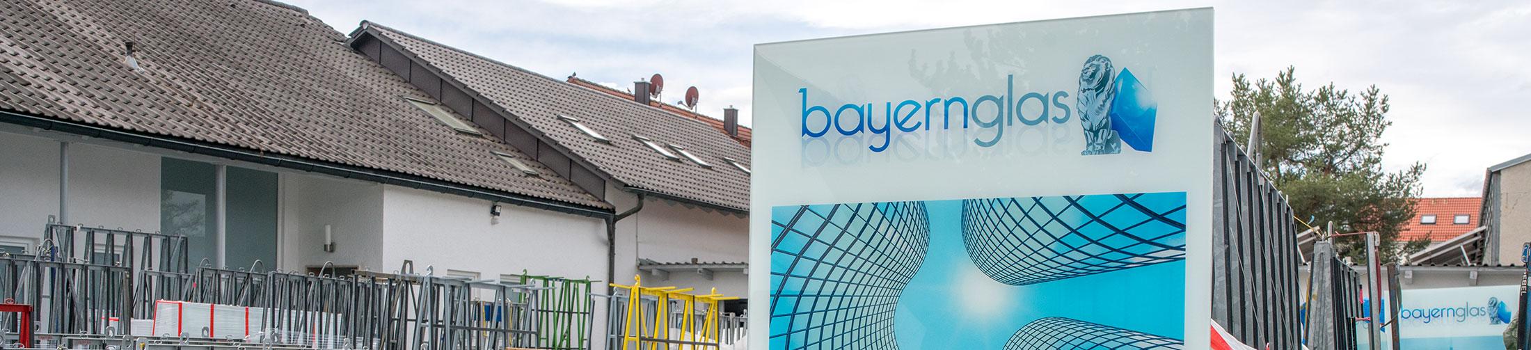 Bayernglas Logo Glas bedruckt