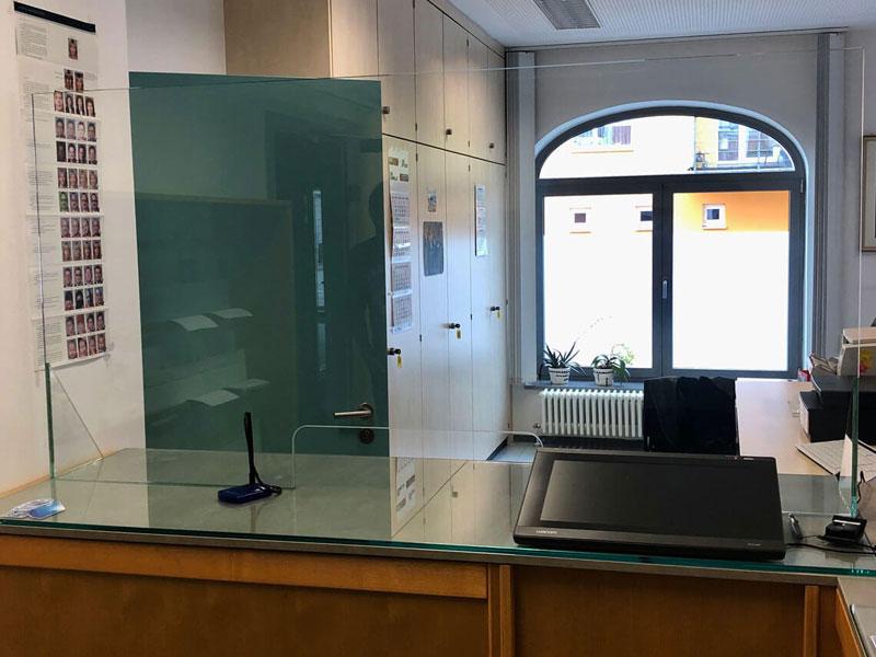 Glas Schutzscheibe für Ämter