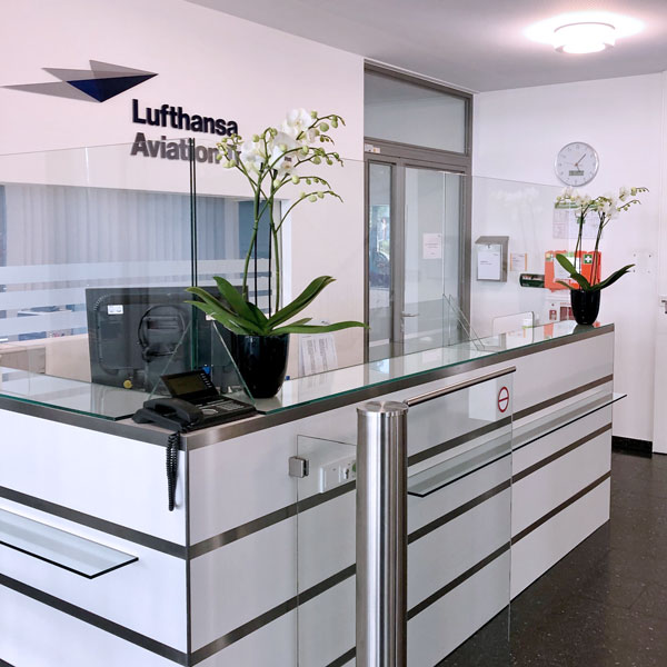 Spritzschutz Niesschutz Lufthansa